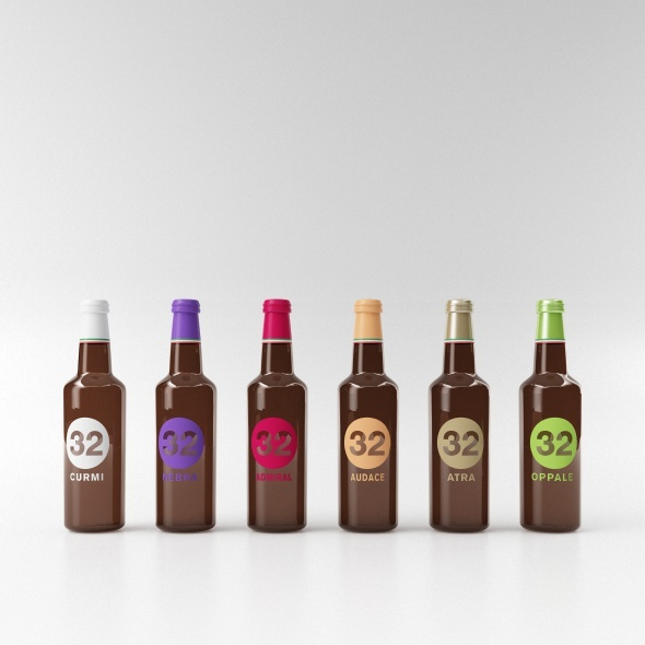 3DOcean beer bottle collection C4D & vray 9776780