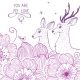 Deer and flower - GraphicRiver Item for Sale