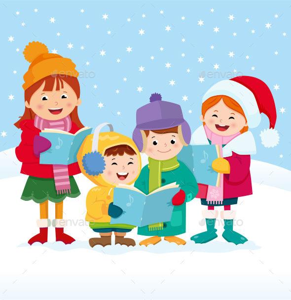 GraphicRiver Christmas Carol Singers 9777120