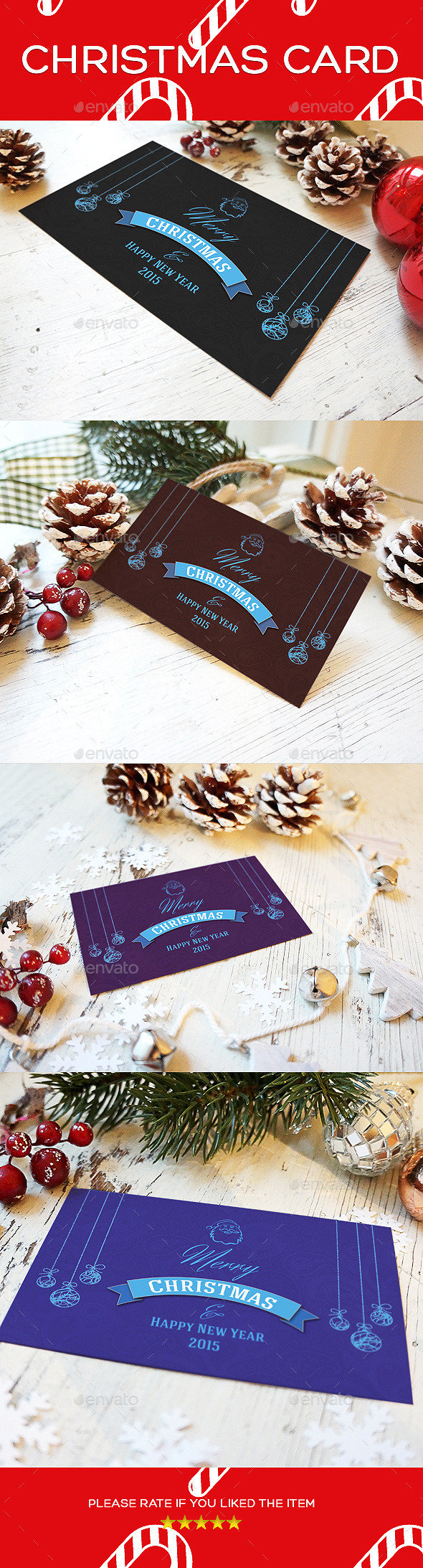 GraphicRiver Exclusive Xmas Christmas Greeting Card 9777177
