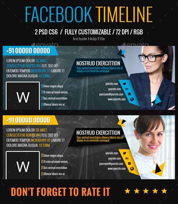 GraphicRiver Multipurpose Used Facebook Timeline 9777433