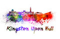Kingston Upon Hull skyline in watercolor - PhotoDune Item for Sale