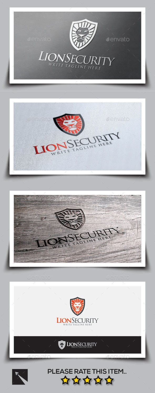 GraphicRiver Lion Security Logo Template 9777550