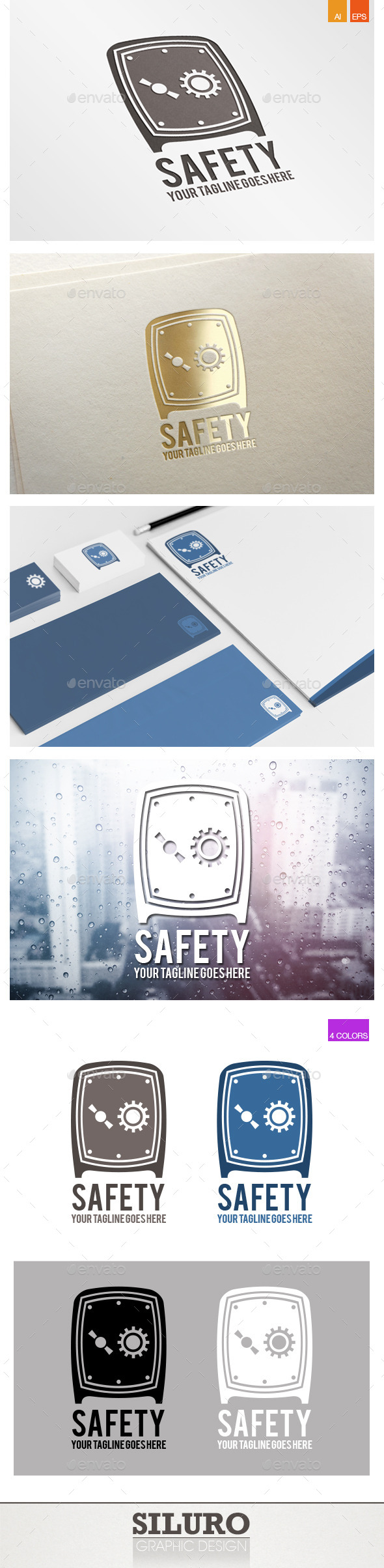 GraphicRiver Safety Logo 9777613