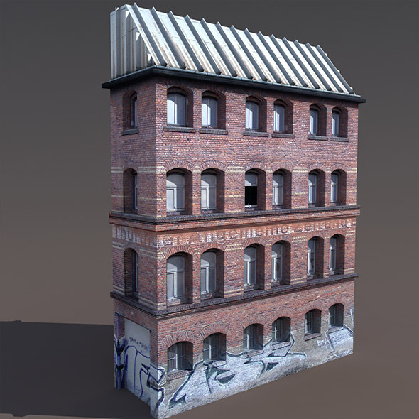 3DOcean Old Factory #125 Low poly 3D Model 9778039