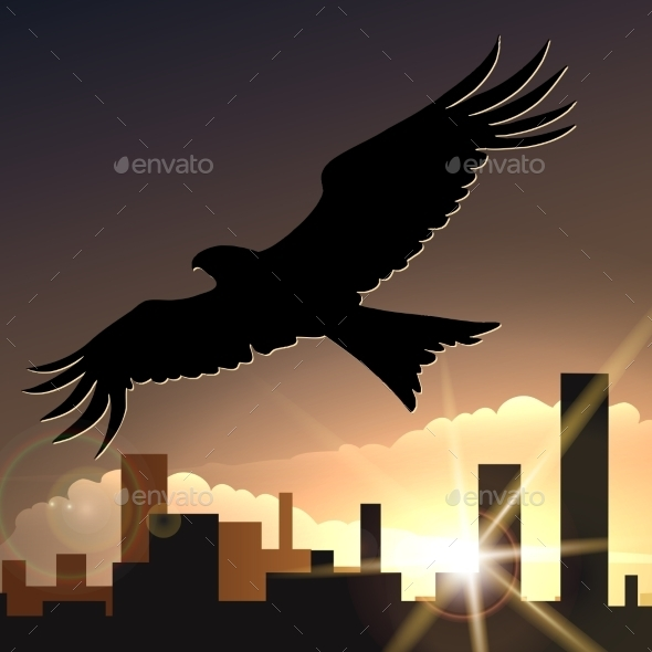 GraphicRiver Flying Eagle 9778063