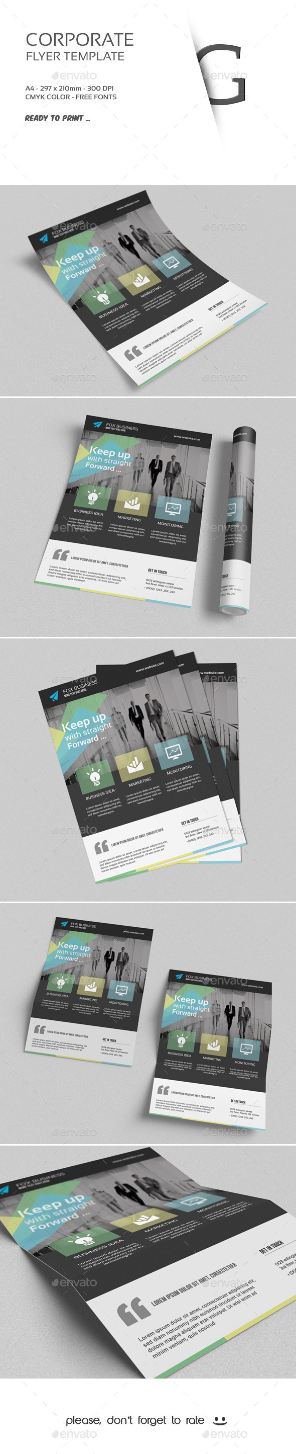 GraphicRiver Corporate Flyer Template 9778109