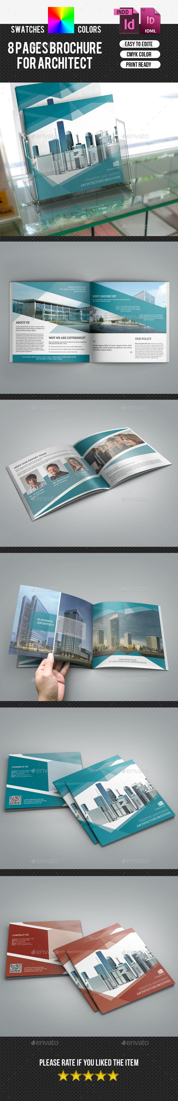 GraphicRiver Corporate Square Bifold Brochure-V175 9778117