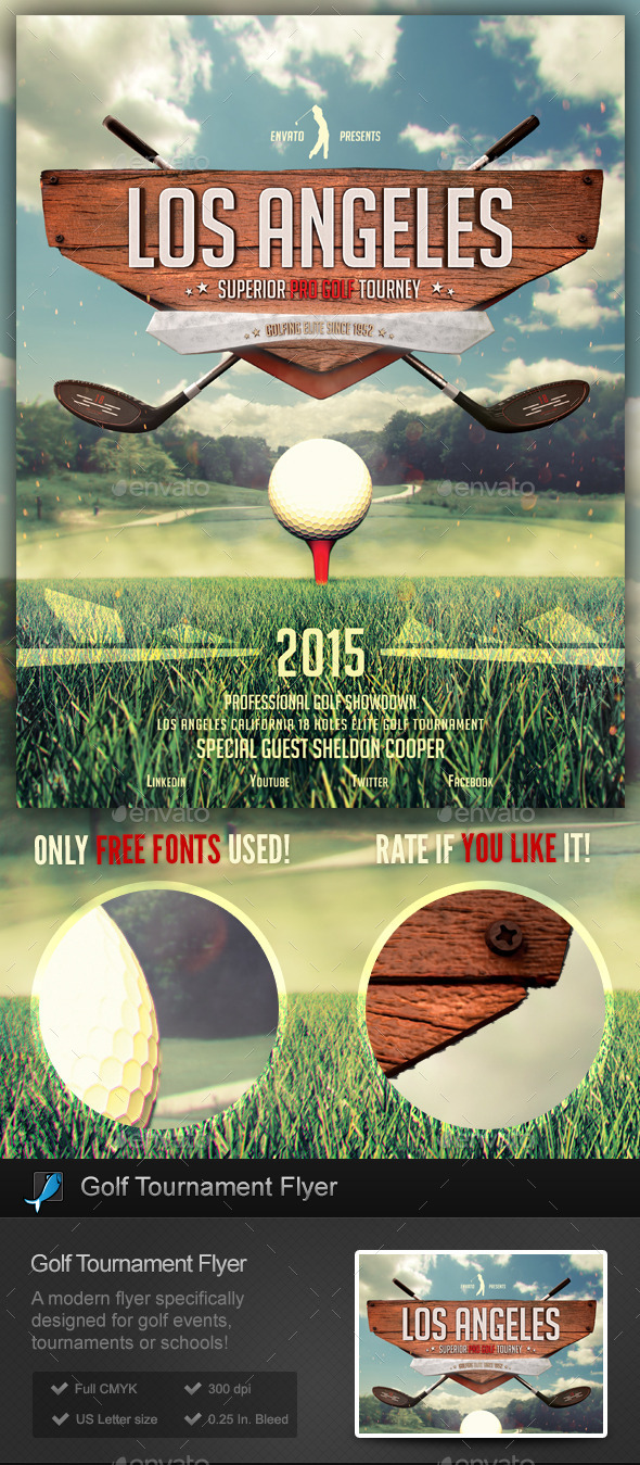 GraphicRiver Golf Tournament School Flyer Template 9778158