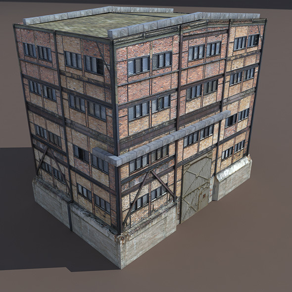 3DOcean Old Factory Low Poly 3D Building 9778183
