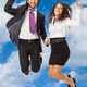 Jumping business couple - PhotoDune Item for Sale