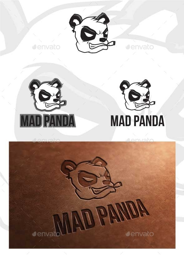 GraphicRiver Mad Panda Logo Template 9778454