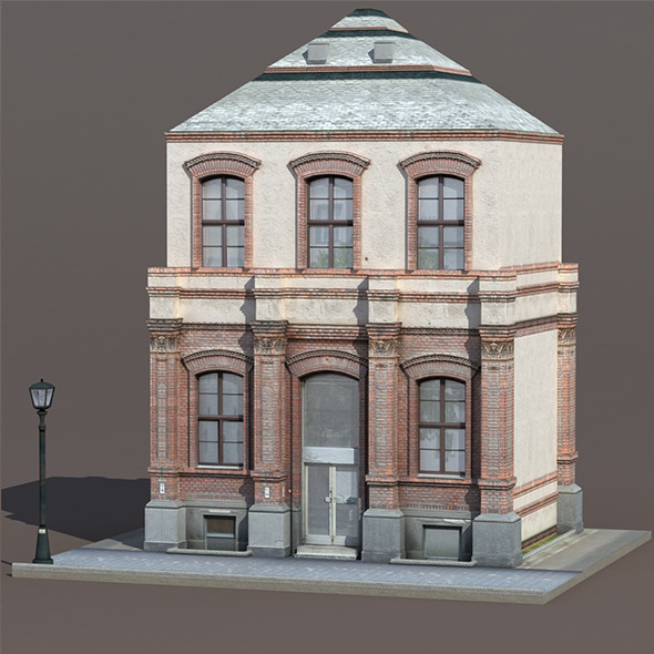 3DOcean Apartment House #131 Low poly 3D Model 9778492