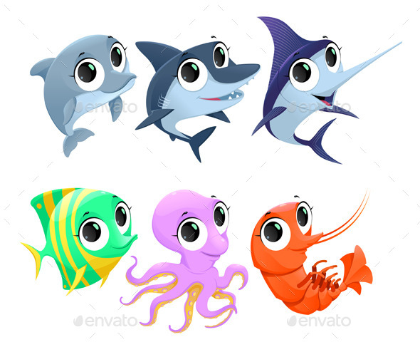 GraphicRiver Marine Animals 9778573