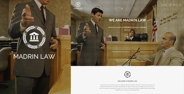 ThemeForest Madrin One Page Law Firm HTML Template 9623818