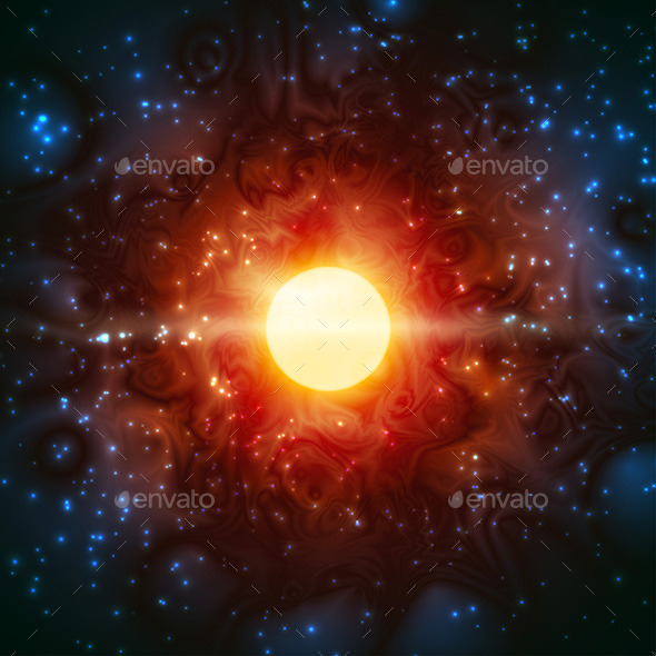 GraphicRiver Space Burning Universe 9778583