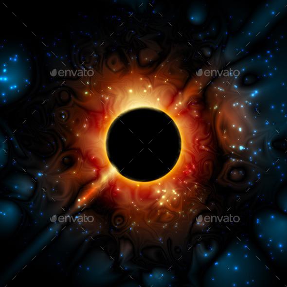 GraphicRiver Black Hole Supermassive Gravity Universe 9778600