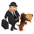3d businessman with a dog - PhotoDune Item for Sale