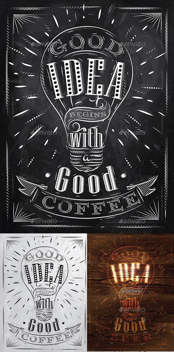 GraphicRiver Poster Lettering Good Idea 9778620