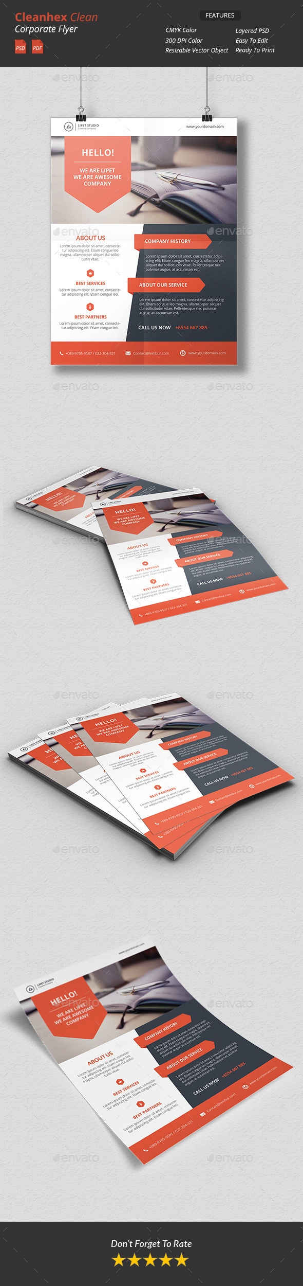 Cleanhex Clean Corporate Flyer v3