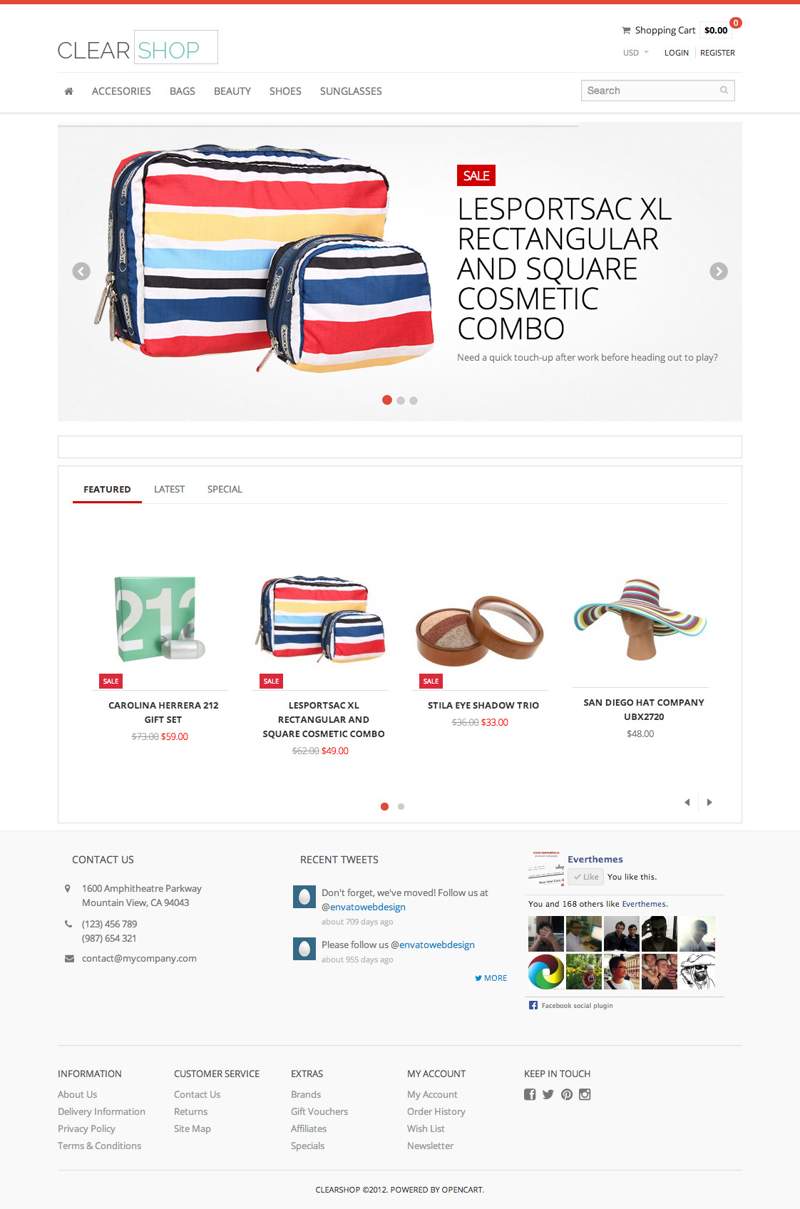 Clearshop - Responsive OpenCart theme