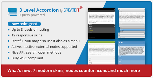 jQuery Searchable 3 Level Accordion