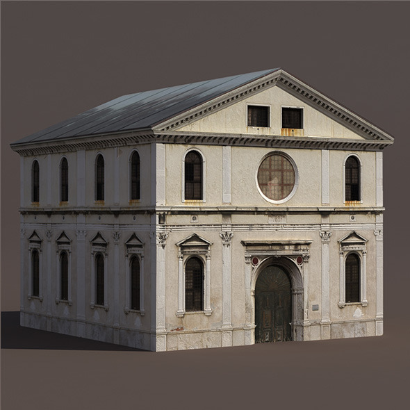 3DOcean Church Low Poly 3D Model 9779122