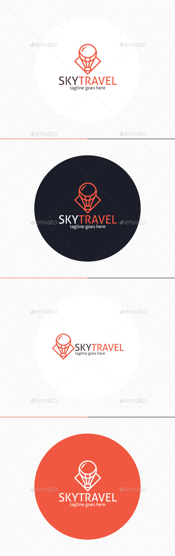 GraphicRiver Sky Travel Logo 9779121