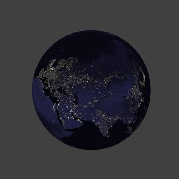 3DOcean Earth night 9779134