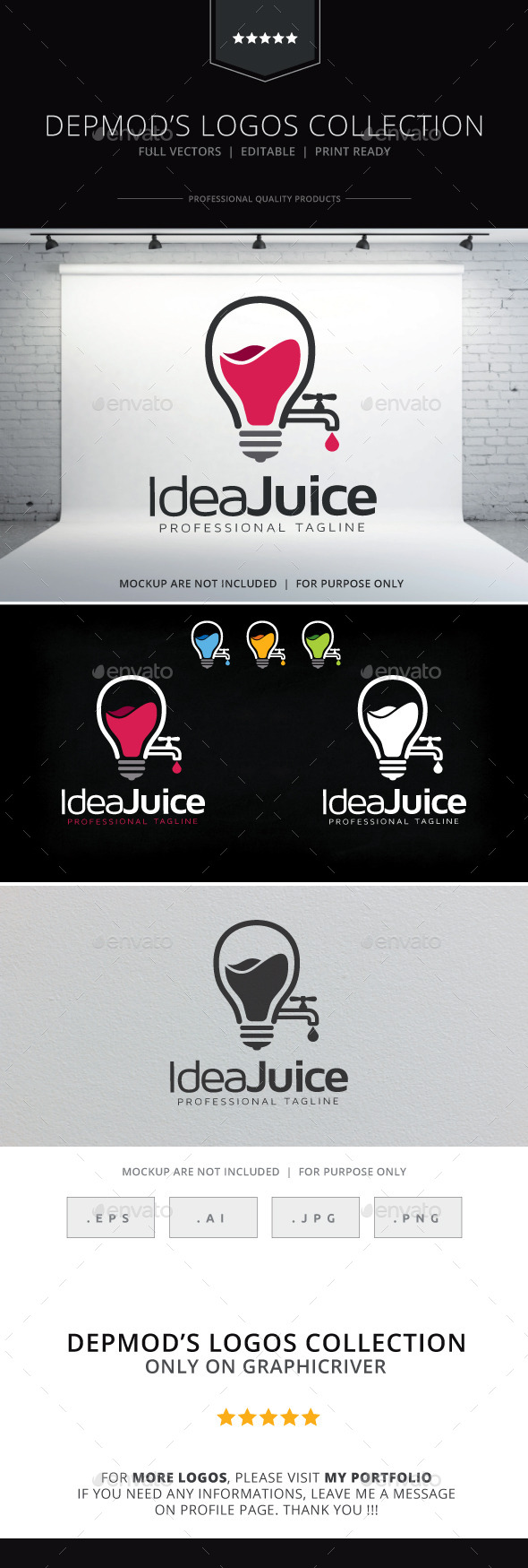 GraphicRiver Idea Juice Logo 9779242