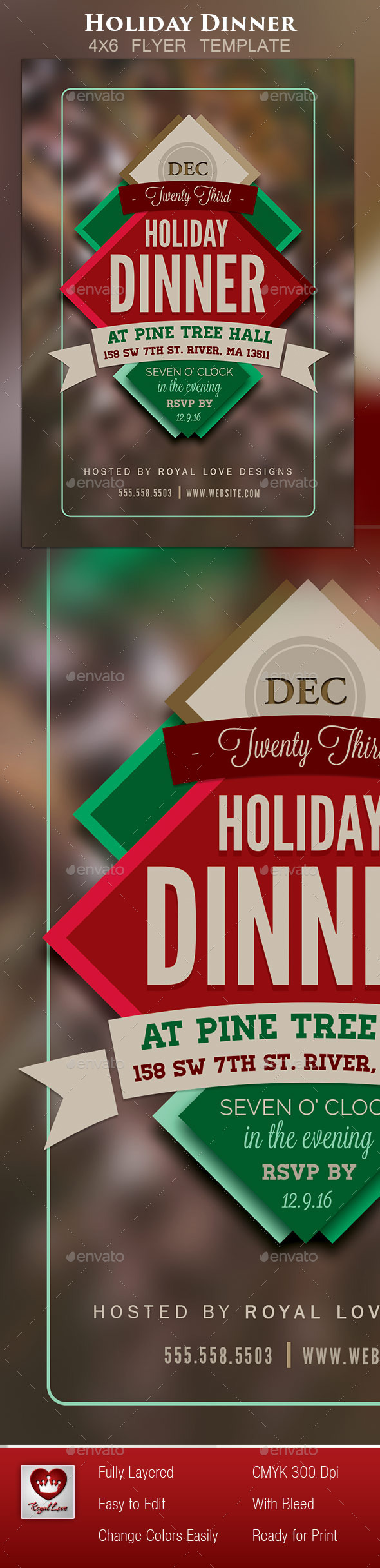 GraphicRiver Holiday Dinner Flyer II 9779322