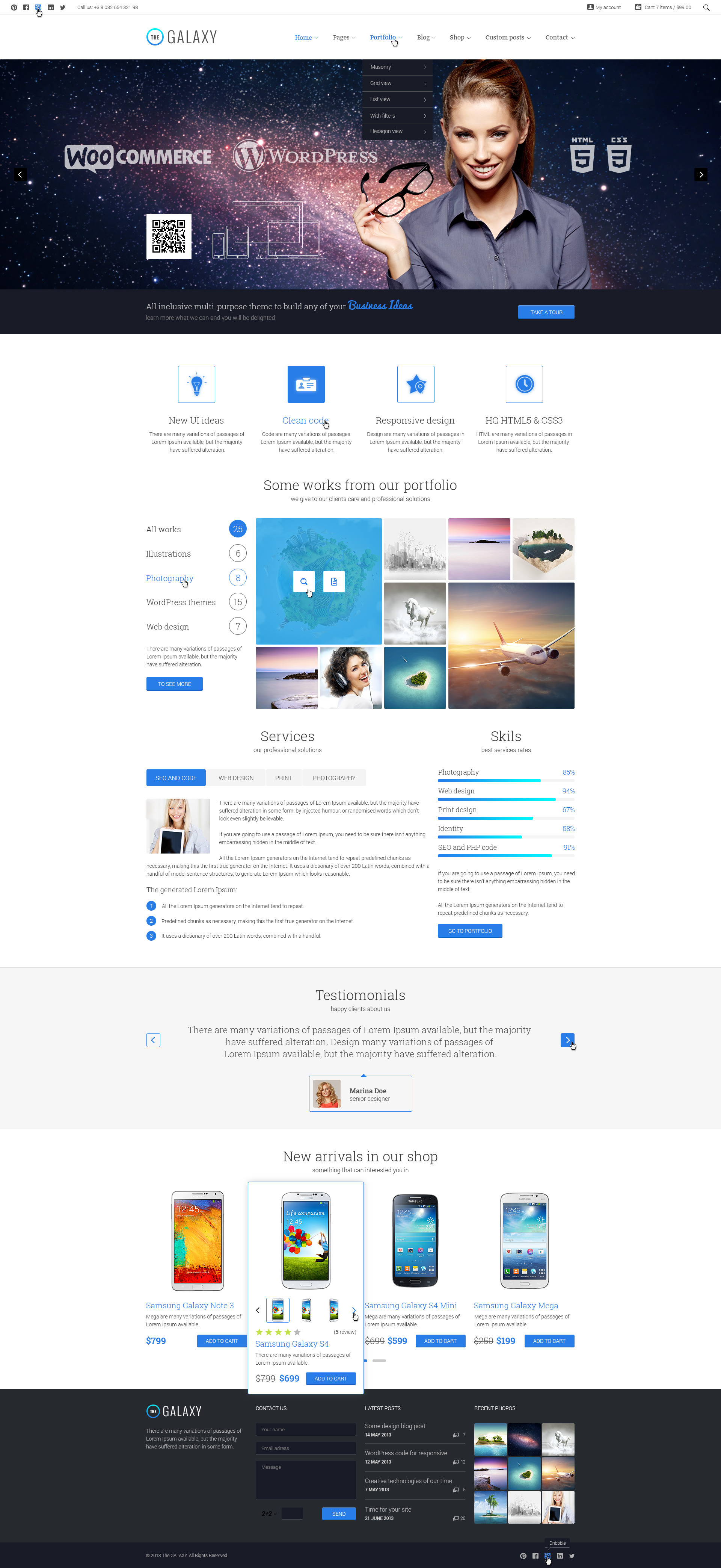 The GALAXY - Responsive Multi-Purpose PSD Theme