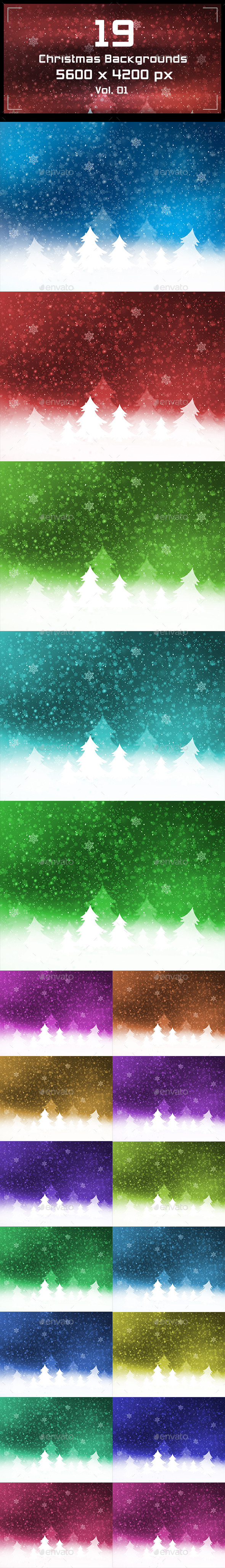 GraphicRiver Christmas Backgrounds 9779608