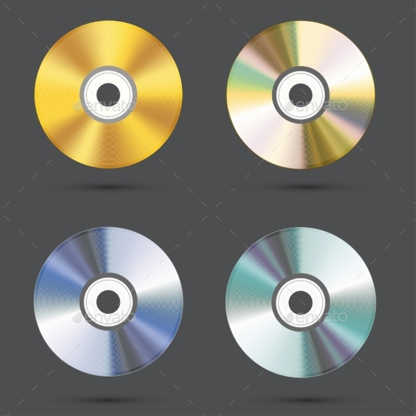 GraphicRiver CD Icons Set 9779679