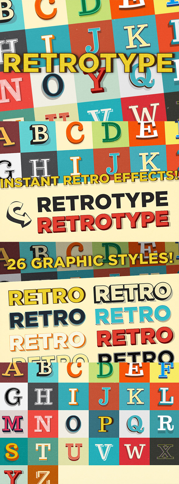GraphicRiver Retrotype Graphic Styles 9779882