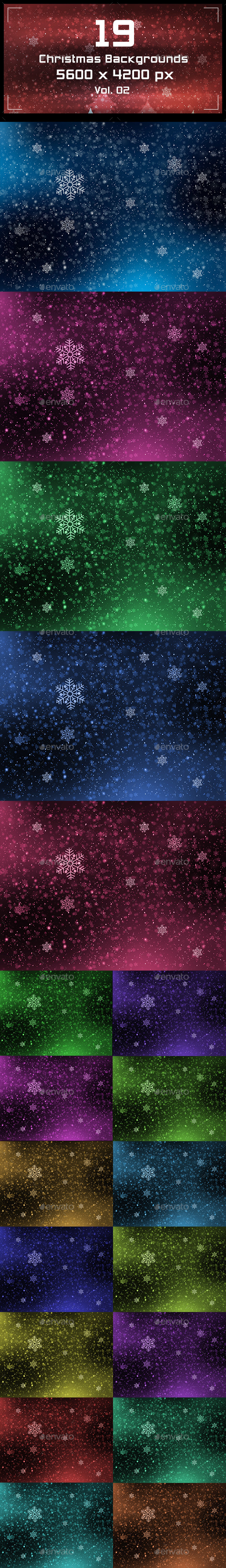 GraphicRiver Christmas Backgrounds 9779884