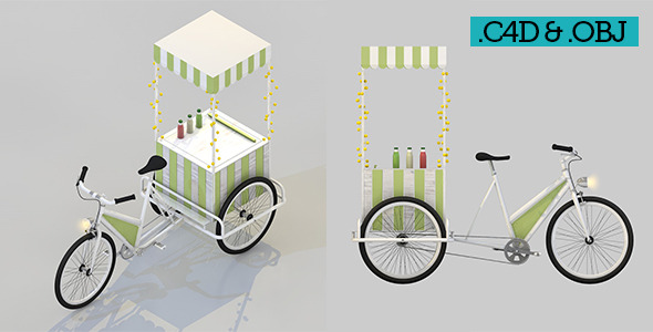 Food Bicycle Lemonade - 3DOcean Item for Sale