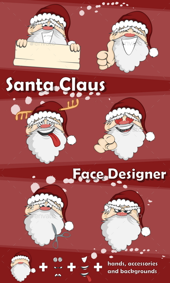 GraphicRiver Santa Claus Face Designer 9779906