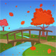 Autumn Landscape with Bridge - GraphicRiver Item for Sale