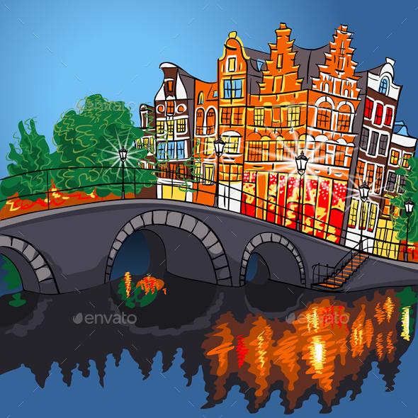 GraphicRiver Amsterdam Landscape 9779965