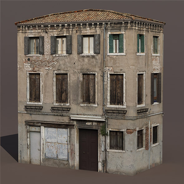 Apartment House #135 Low Poly 3d Building - 3DOcean Item for Sale
