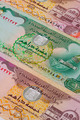 Different Dirham  banknotes from Emirates on the table - PhotoDune Item for Sale