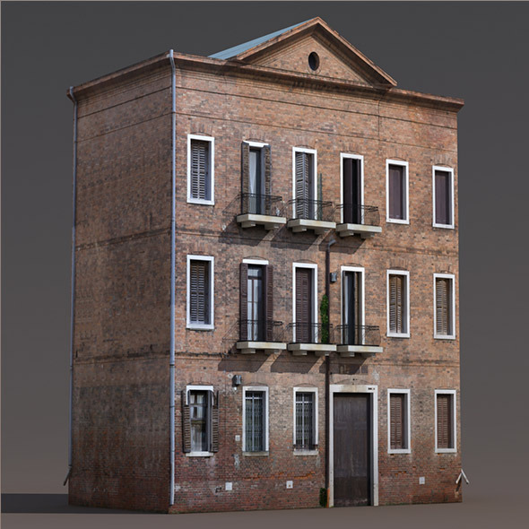 3d model 3docean apartment house 143 low poly 3d for Apartment model house