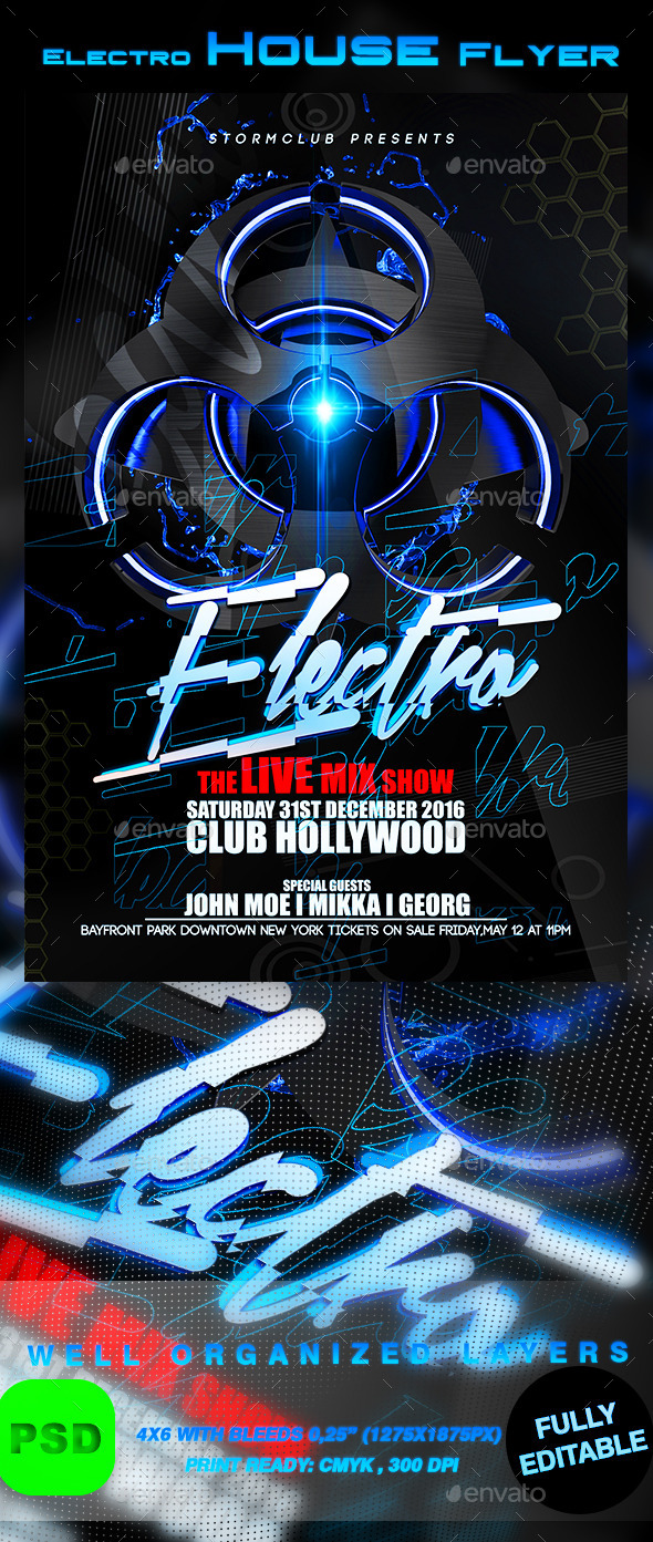 GraphicRiver Electro House Flyer Template 9780051
