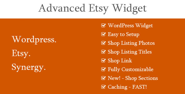 Advanced Etsy Widget - CodeCanyon Item for Sale
