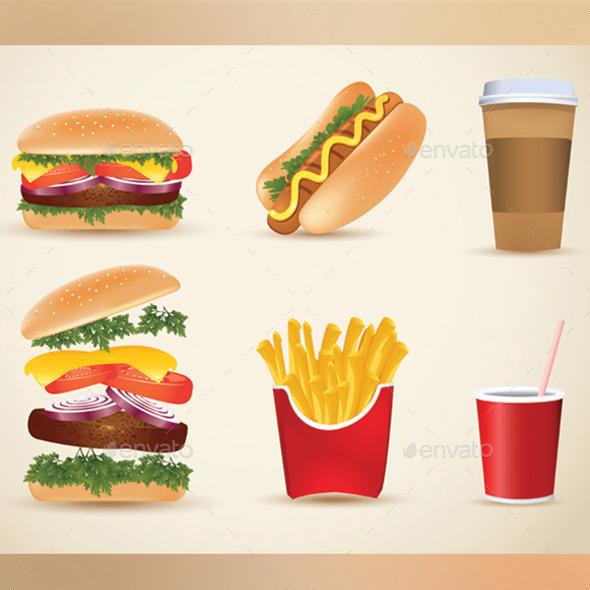 GraphicRiver Fast Food Set 9781165