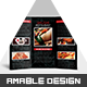 Sushi Menu Tri-fold Brochure - GraphicRiver Item for Sale