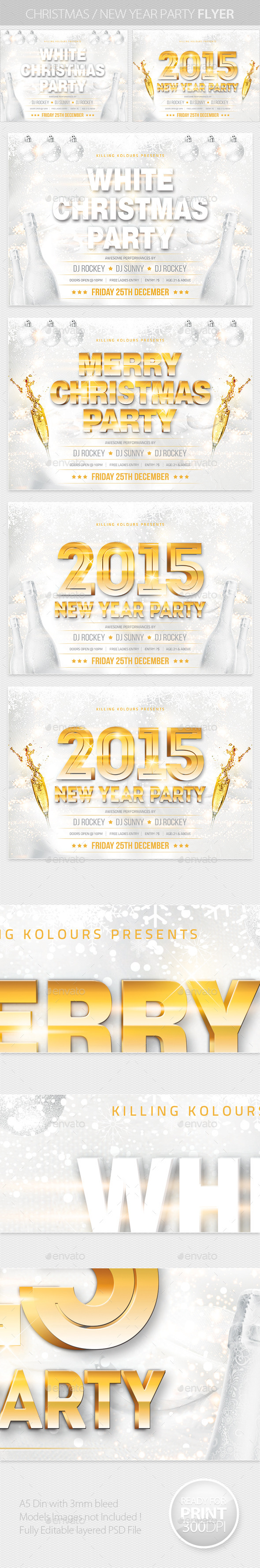 GraphicRiver Christmas New Year Party Flyer 9781509