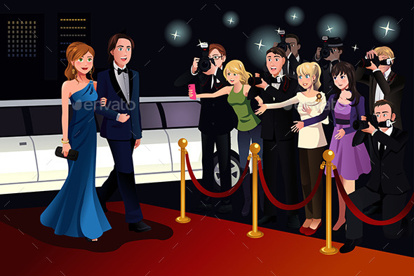 GraphicRiver Couple Going to a Red Carpet Event 9781544
