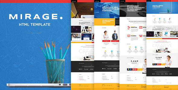 ThemeForest Mirage Multipages HTML Template 9781573